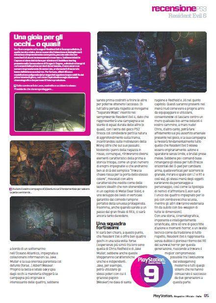 Resident Evil 6 écope d'un premier 9/10