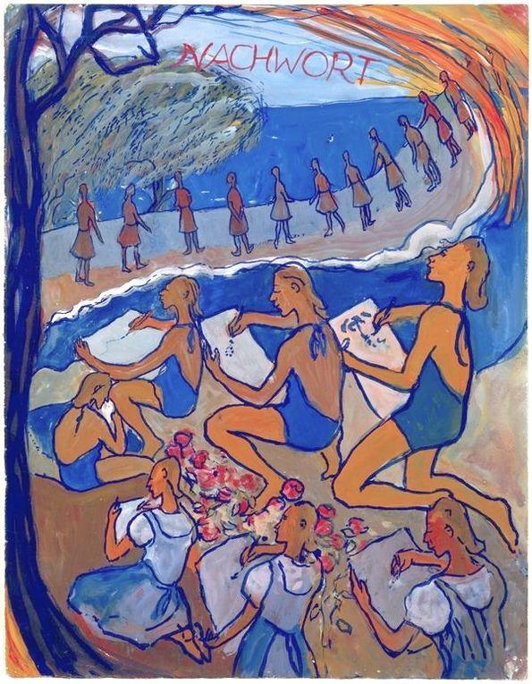 —gouaches sur papier de Charlotte Salomon ( 1917 - 1943 )