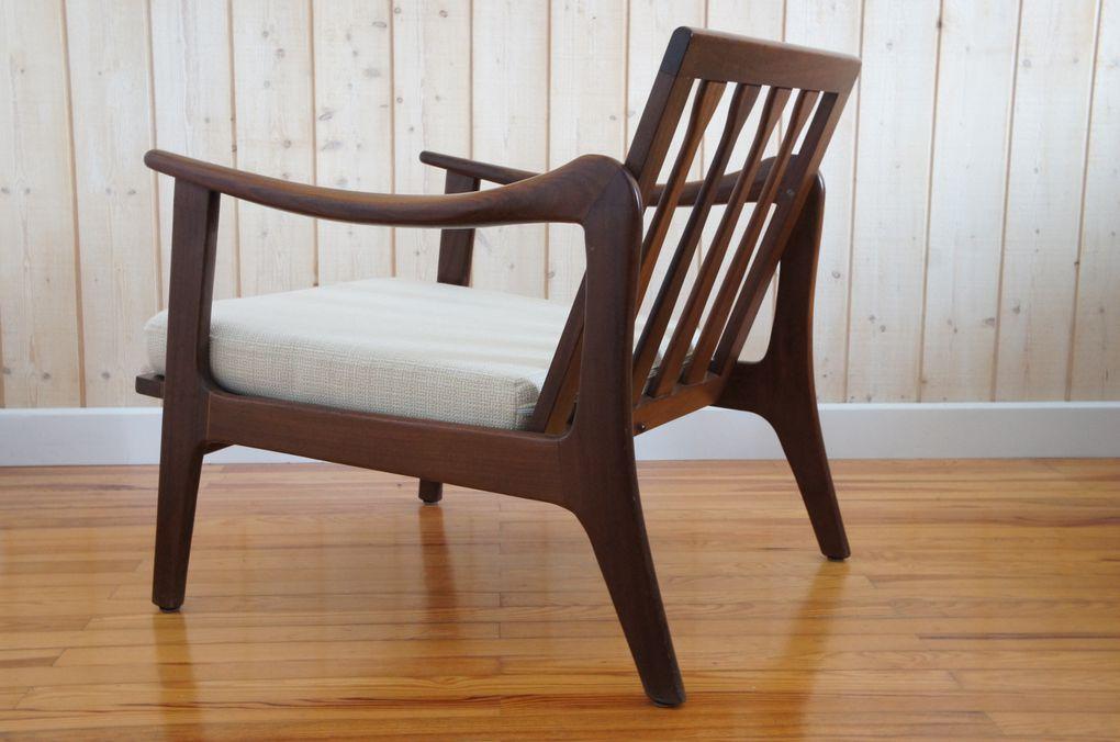 Vendu - Paire de fauteuils scandinaves teck vintage rétro années 50 60 70 style Grete Jalk, Hans Wegner, Fihn Juhl, danois.....