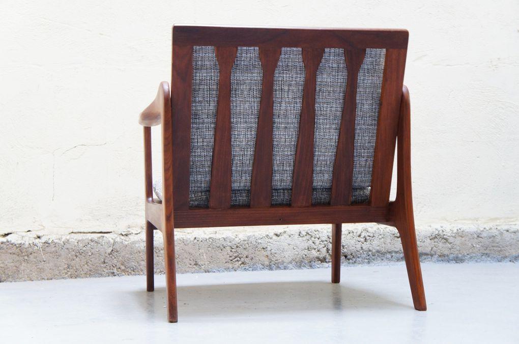 Vendu - Paire de fauteuils scandinaves teck vintage design rétro années 50 60 70 danois style Grete Jalk, Hans Wegner, Fihn Juhl, danois.....