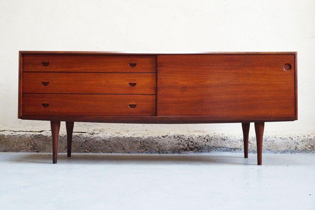 enfilade scandinave danoise ann es 50 60 70 teck vintage design mad men buffet bahut bas meuble. Black Bedroom Furniture Sets. Home Design Ideas