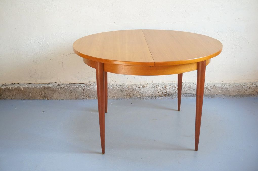 Vendu table manger scandinave vintage ann es 50 60 for Table scandinave a rallonge
