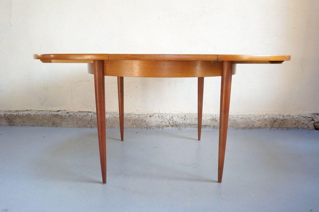 Vendu - table à manger scandinave vintage années 50 60 teck chaises niels O Moller design rallonge rétro decoration danois