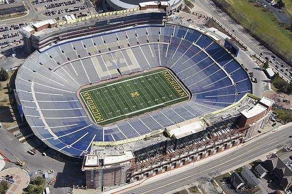 The Michigan Stadium is the largest stadium in the United States with an official capacity of 109,901 persons!