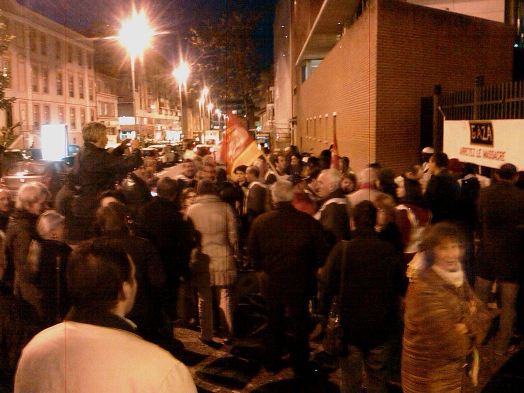 Rassemblement contre l'agression israélienne à Gaza du lundi 19 nov à Montauban