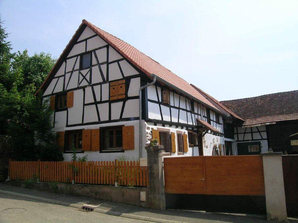 La maison alsacienne architecture et b timent - Maison a colombage alsacienne ...