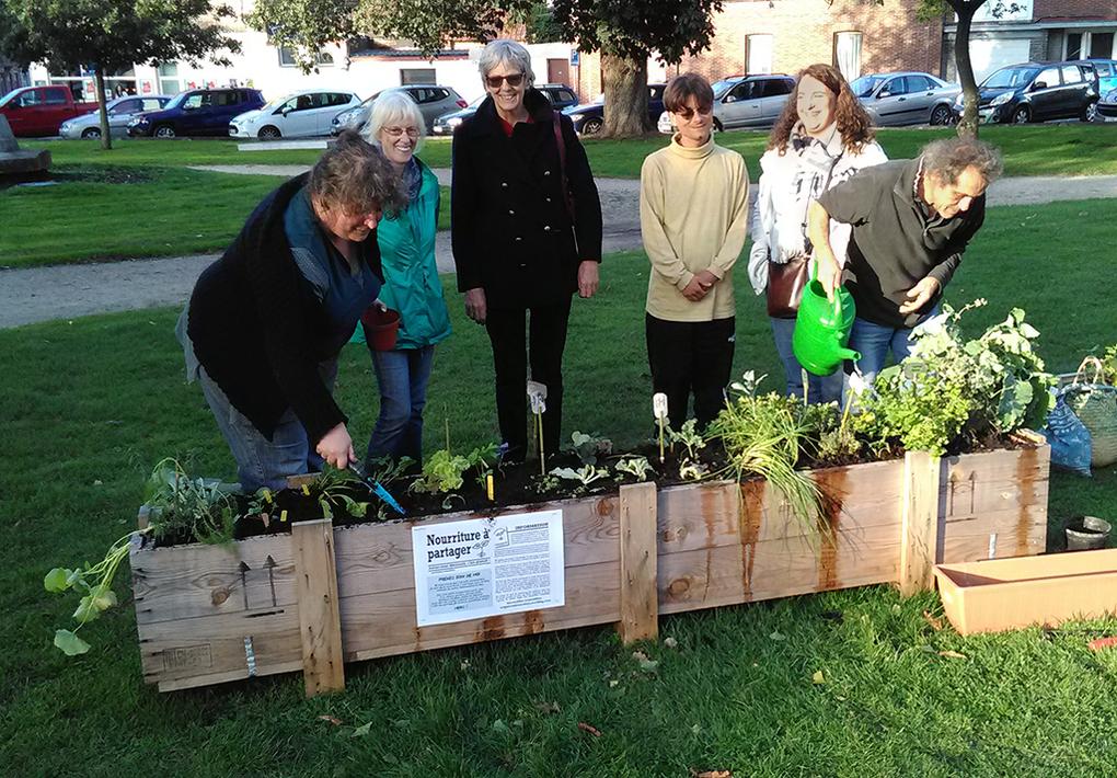 Plantation de légumes et fines herbes au Parc Spinette et au Square Jules Bordet