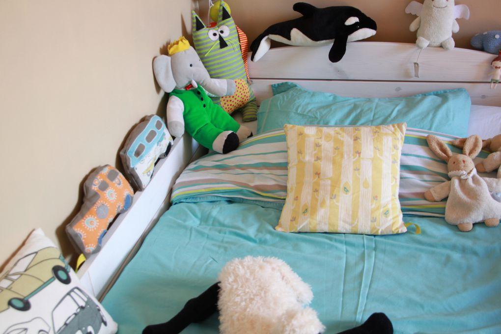 La chambre de Will côté lit.