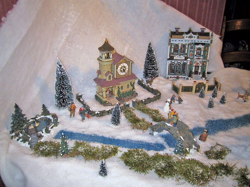 Il tait une fois les villages miniatures de no l le blog de martissou - Village de noel miniature ...