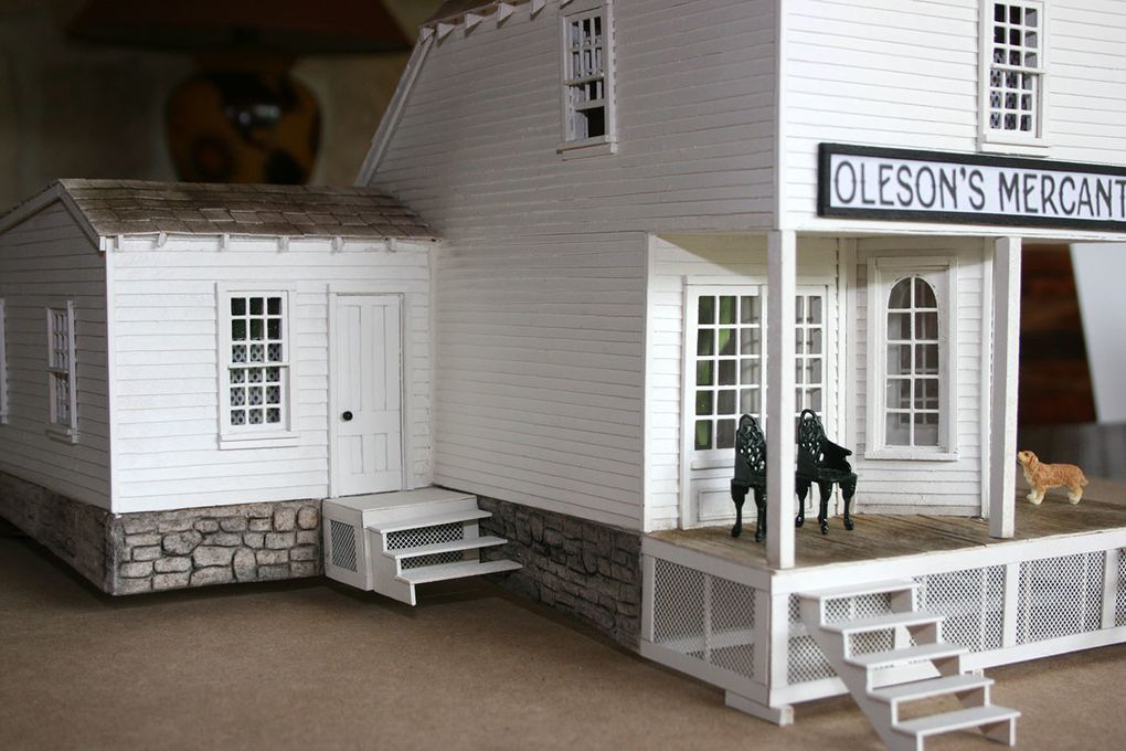 Le magasin Oleson - Oleson's Mercantile (maquette)