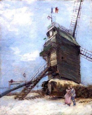 Musée de Montmartre : atelier de Suzanne Valadon et de son fils, jardins Renoir, vue sur les vignes et moulin de la Galette peint par Van Gogh