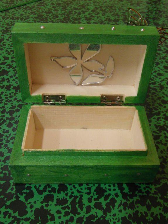 Des petites boîtes : à trésor, à bijoux, à mots doux...