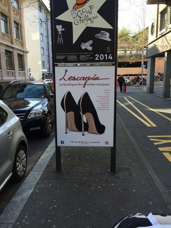 Campagne de pub à travers la ville de Lausanne