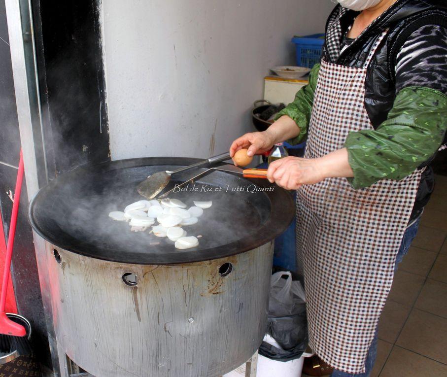 Nian Gao sautés 炒年糕 Chǎo Nián Gāo