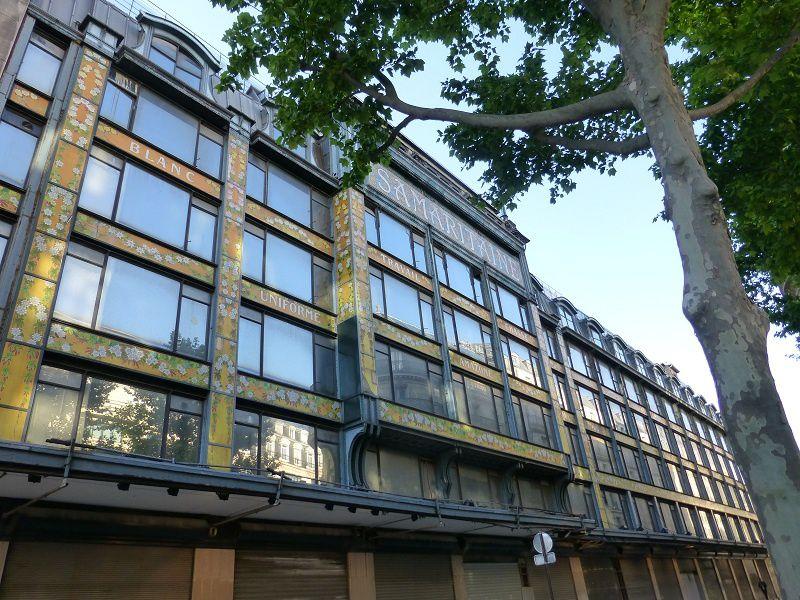 Paris le mardi 13 mai 2014, La Samaritaine sous le meilleur profil restant, vers 8 heures du soir (18 clichés)