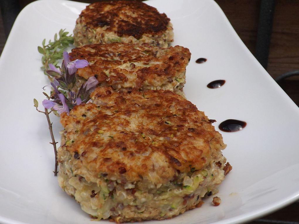 Croquettes de quinoa au fromage de chèvre frais d'aprés Laurent Mariotte