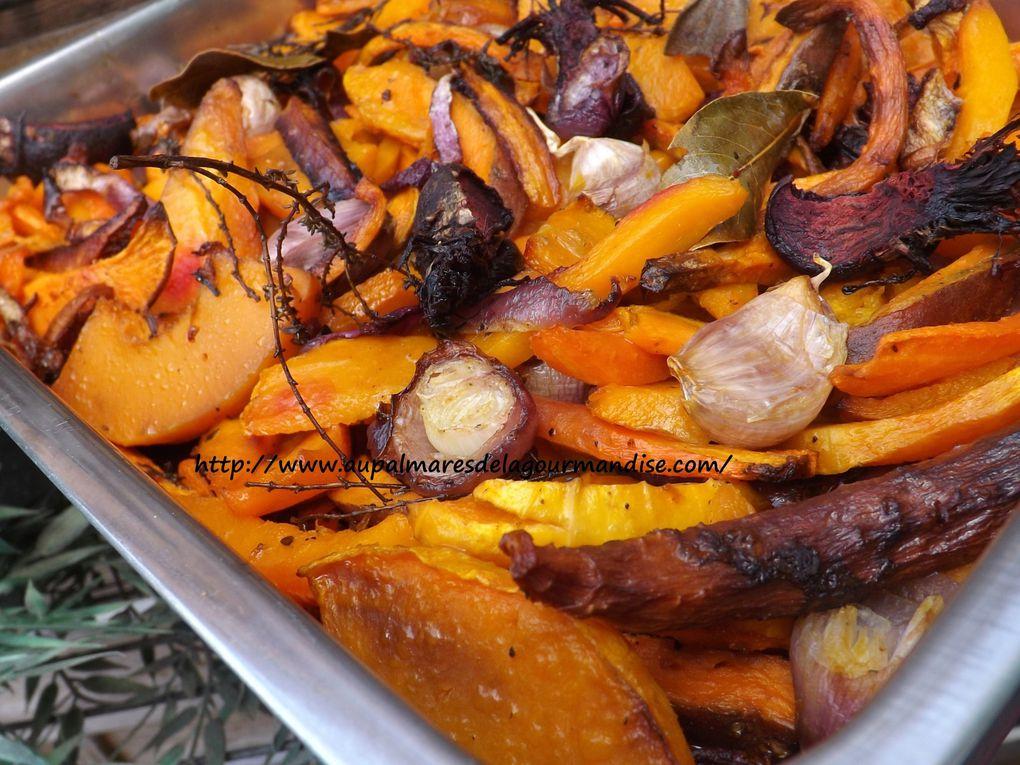 Légumes d'hiver rôtis et confits au four