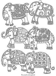 Sélection de coloriages sur l'Inde
