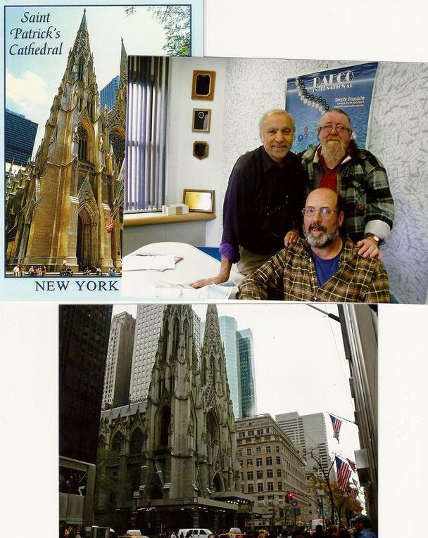 Vu de broadway, de la Cathédrale St Patrick et de mon ami David