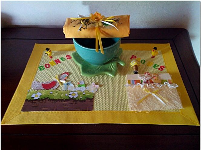 PÂQUES 2015 – DECORATION  SET DE TABLE