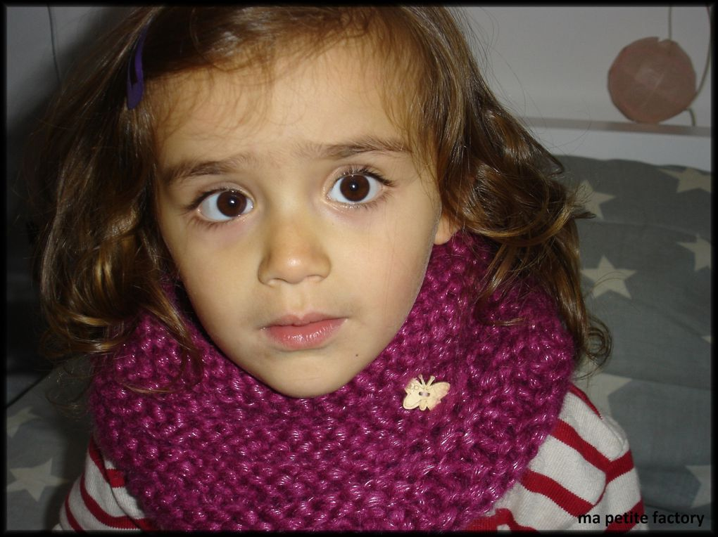 snood rose pour octobre rose !