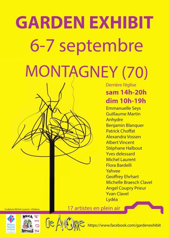 Garden Exhibit 17 artistes en plein air le 06 et 07 Septembre à Montagney 70140