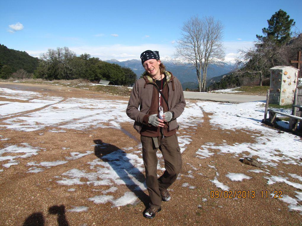 Course d'orientation au col Saint-Eustache