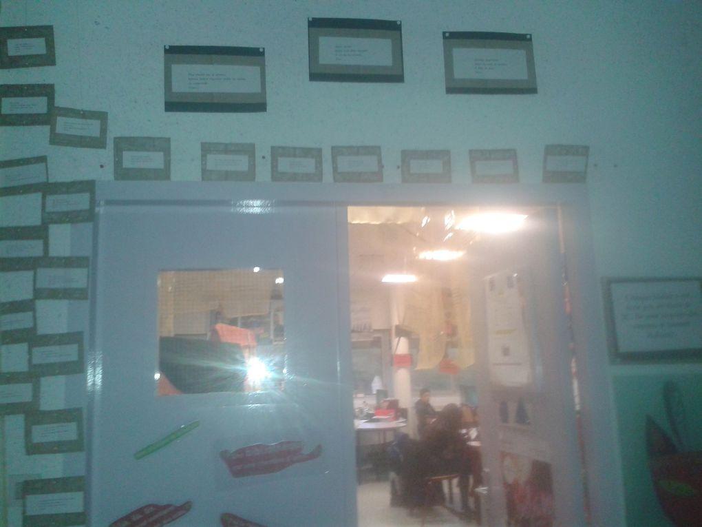 """Les travaux élèves- quelques exemples réalisés dans le cadre de la venue d""""Ahmed Kalouaz"""