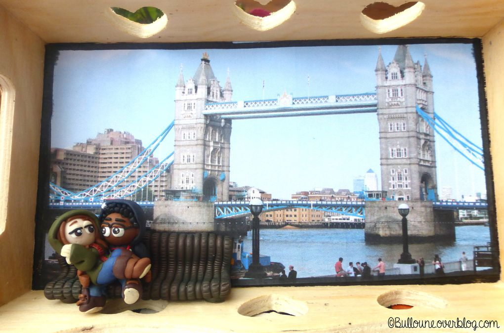 Amoureux - Banc - London bridge - Fimo