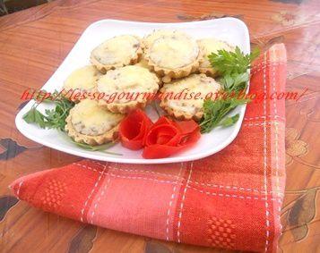 Mini quiches au fromage