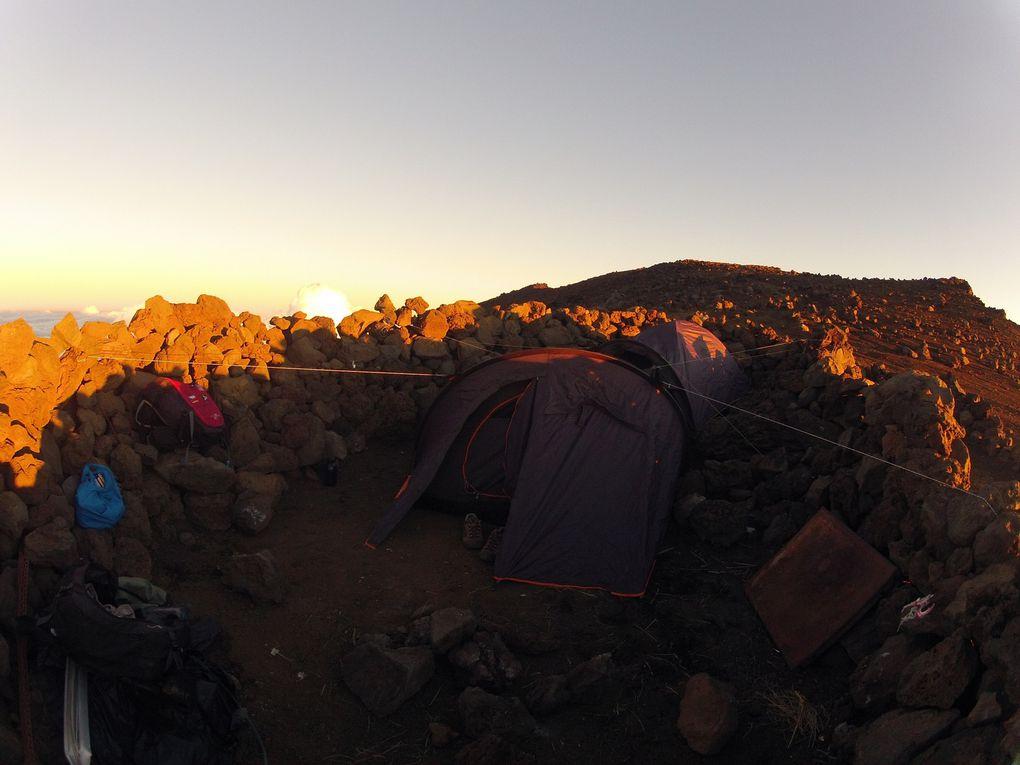 Le campement au sommet