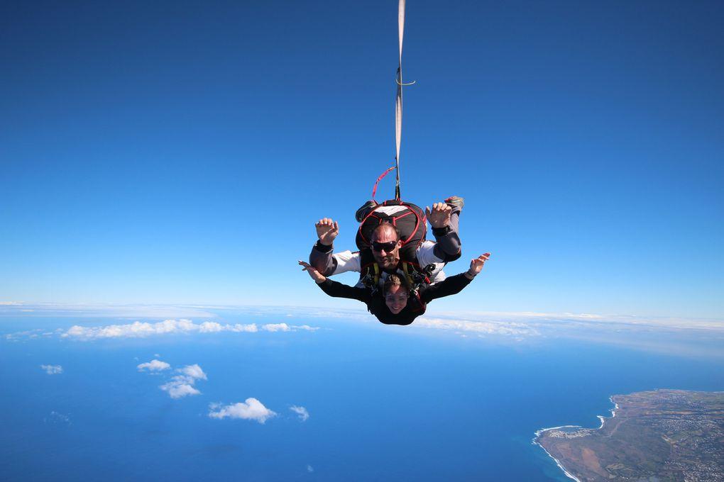Saut en parachute à la Réunion