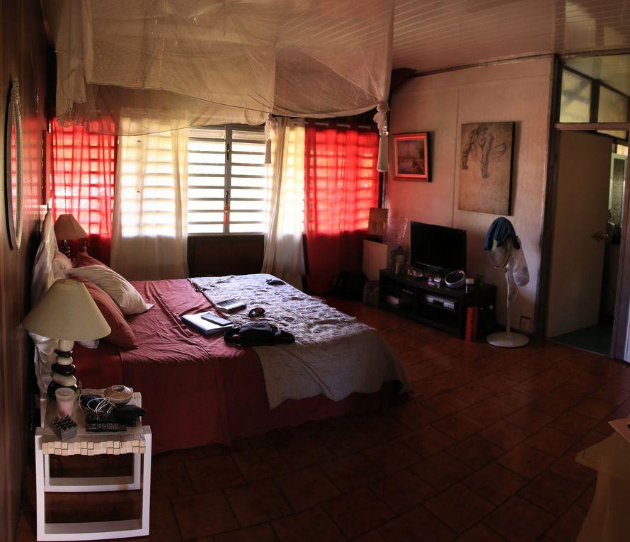 Chambre + salon intérieur