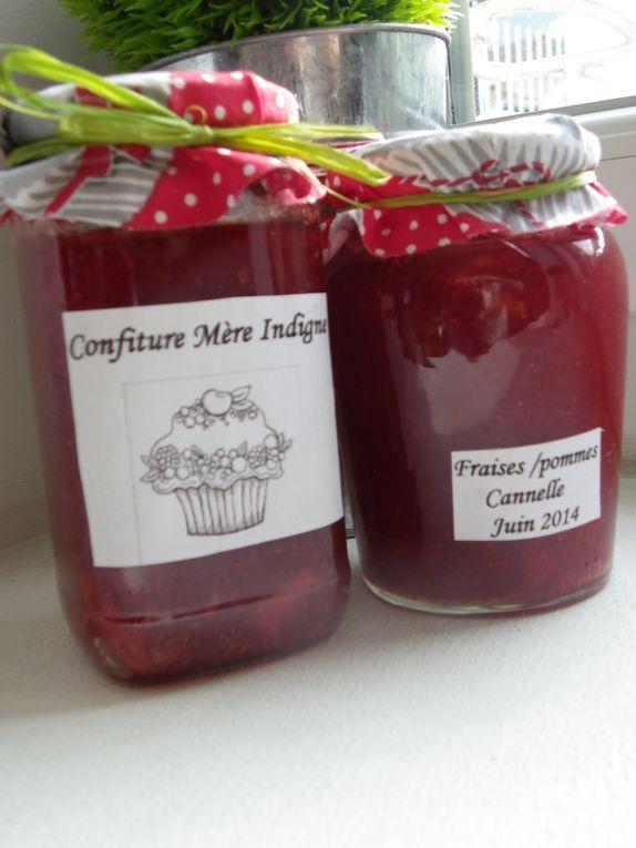 Recette Confiture fraises/pommes à la cannelle