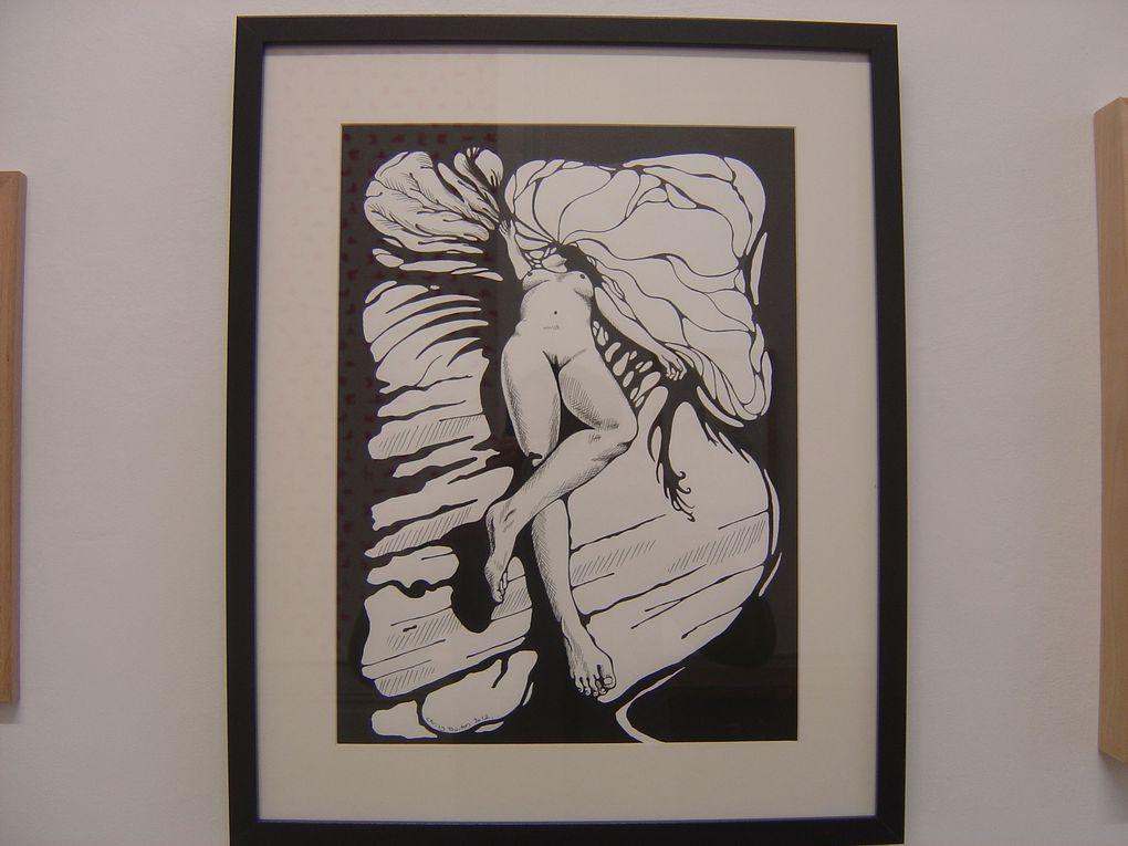 """Chrisy BURTON, """"Small Death"""", 2012, Encre sur papier, 42 x 29,7 cm, 52,5 x 42,4 encadré, prix : 350€"""