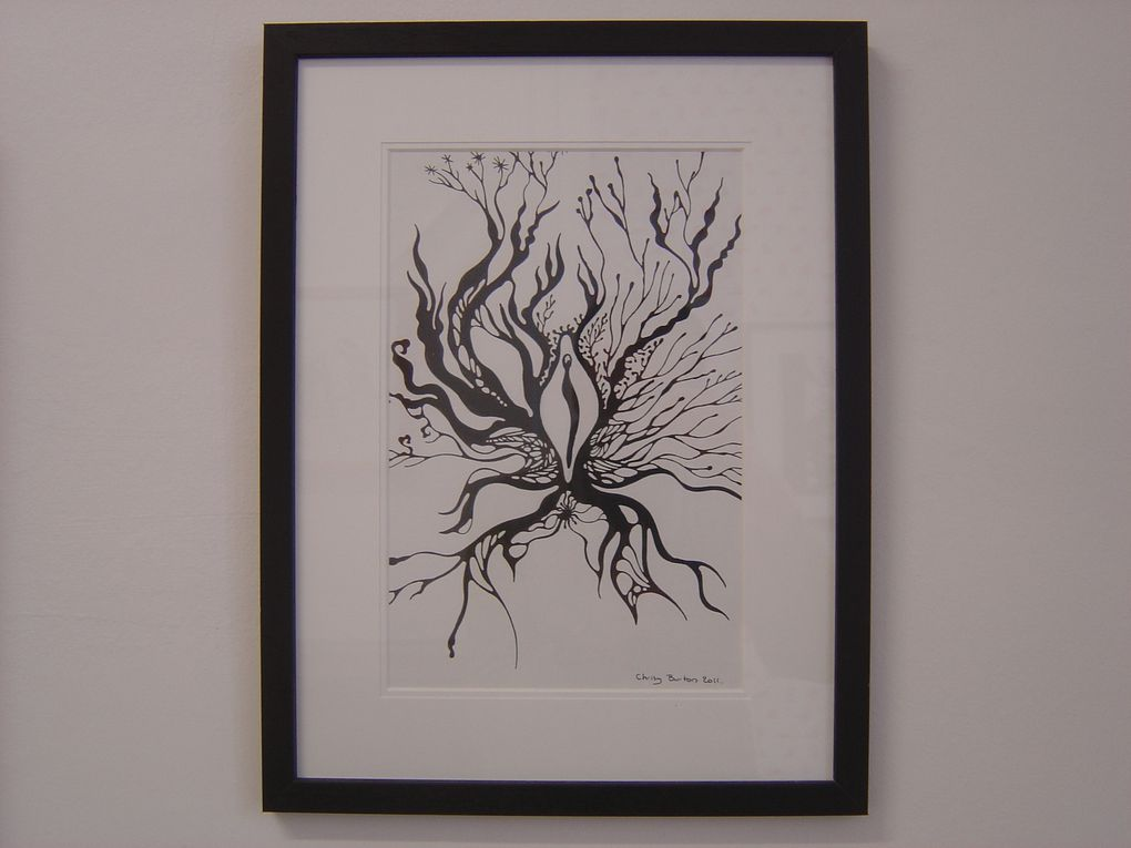"Chrisy BURTON, ""The Origine of my Secrets"", 2012, Encre sur papier, 32 x 24 cm, 42,8 x 32,8 cm encadré, prix : 250 €"