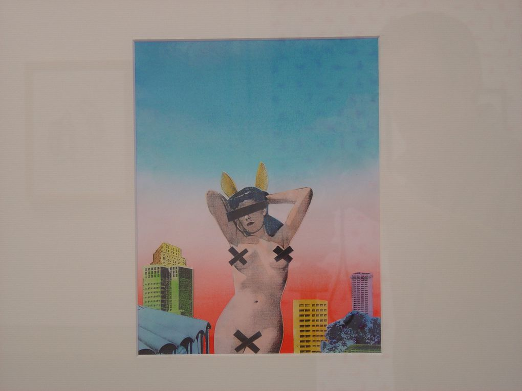 "Julien GRATALOUP, ""No Sex in the City"", 2009, Technique mixte sur papier, 52 x 42 cm encadré, 600 €"