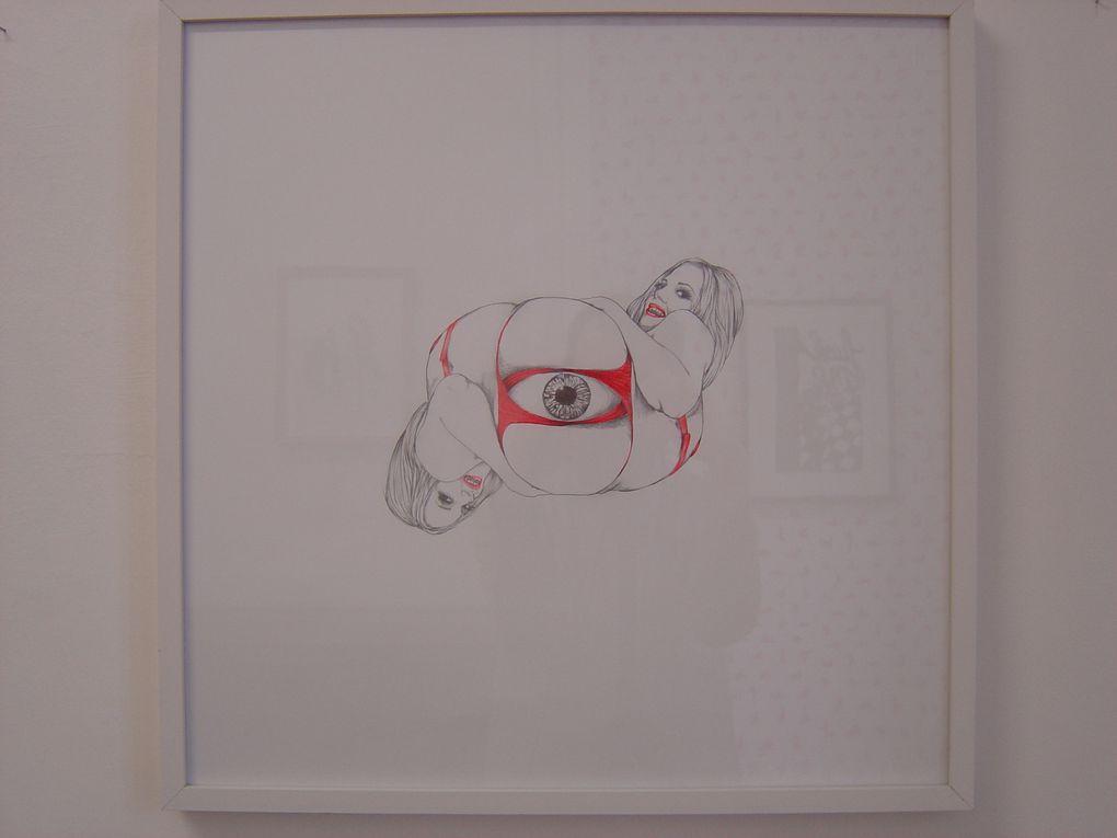 """Dorian JUDE, """"L'Œil"""", 2012, Mine graphite, crayons de couleur et craie sur papier, 52 x 52 cm, 600€"""