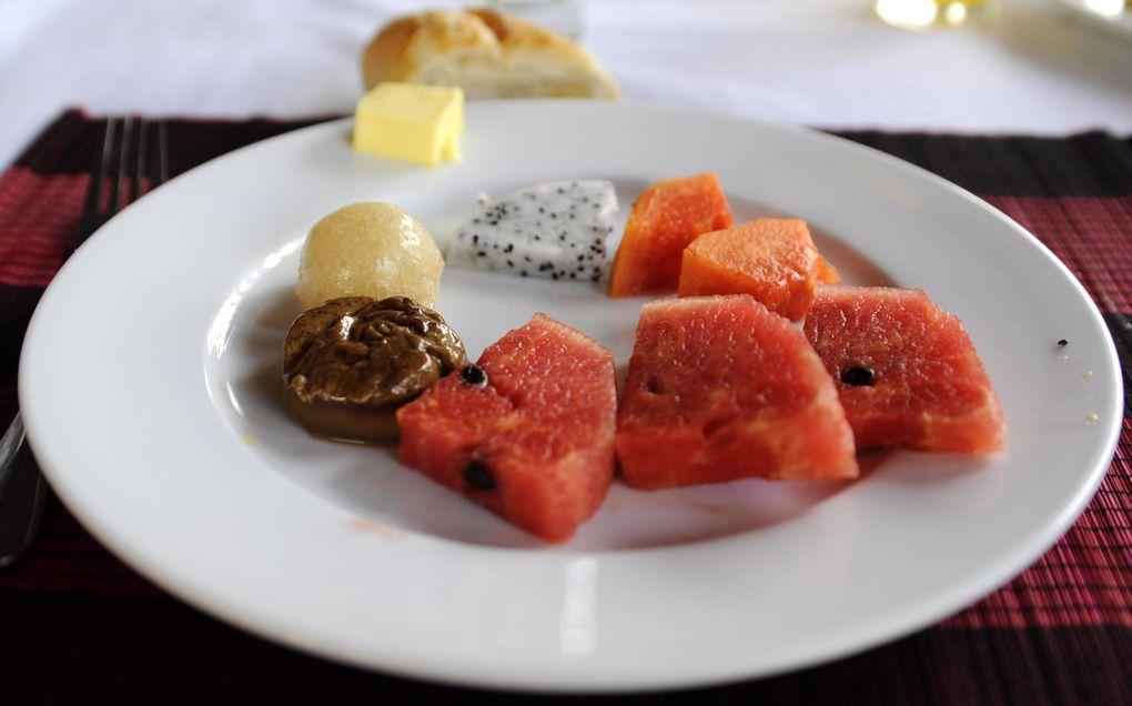 Crêpes citron et sucre, banane chocolat, mangue, etc...  fruits variés, que demander de plus?!?
