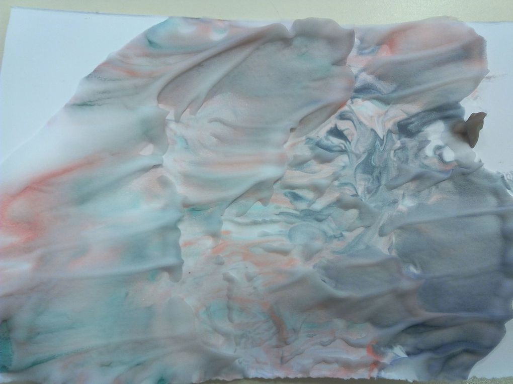 Let's paint with shaving cream