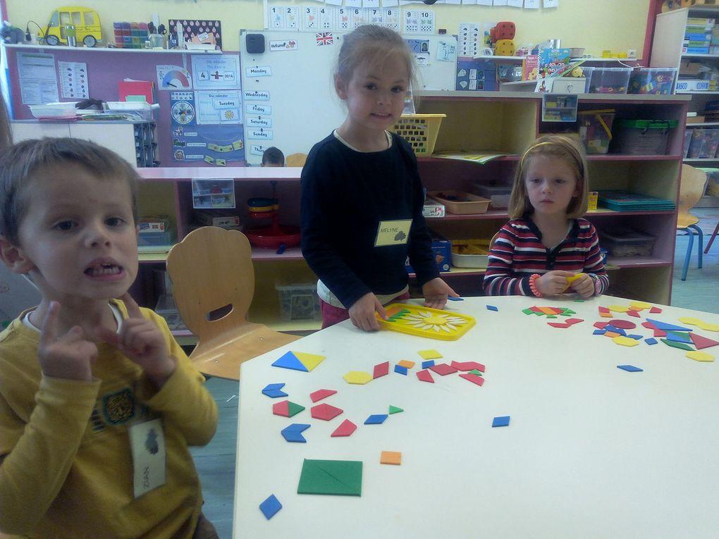 Les enfants de moyenne section en activité