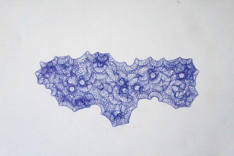 Sans titre - 2014 - stylo à bille sur papier - 30 X 20 cm (série de 30 dessins)
