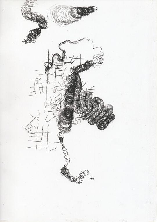 sélection de dessins réalisés à 4 mains (photos : Irwin Leullier)