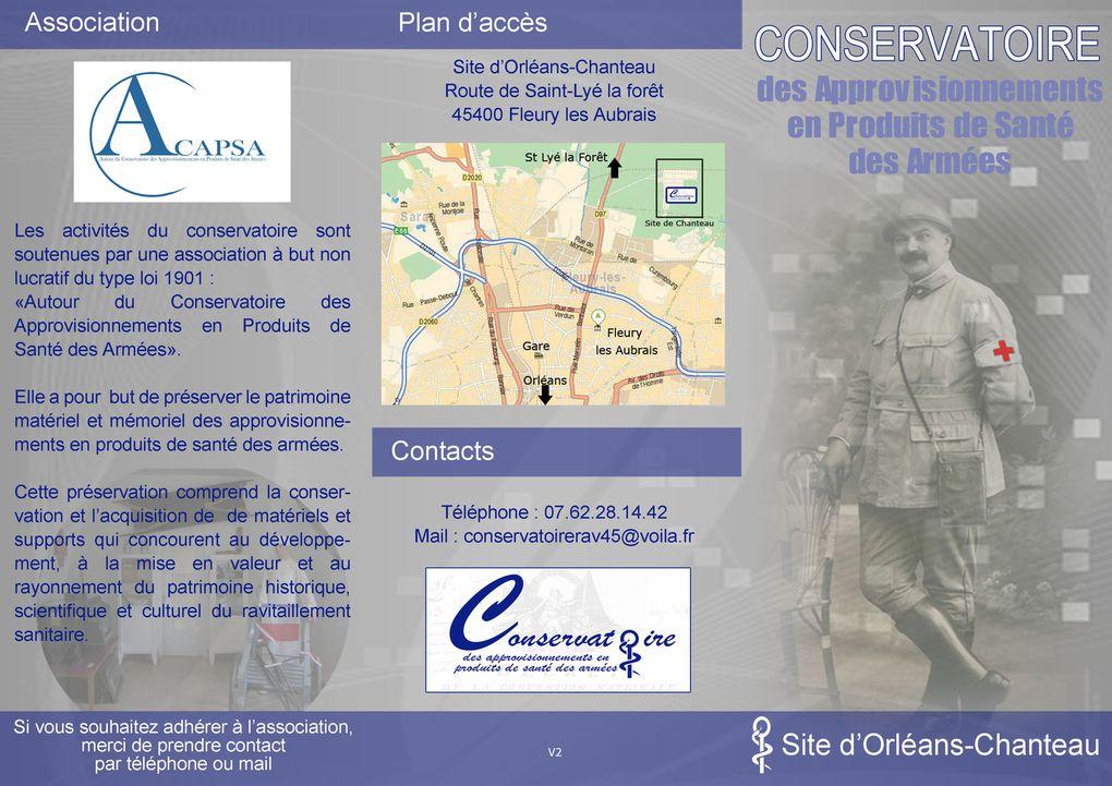 Plaquette de présentation de l'ACAPSA d'Orléans-Chanteau (2014)