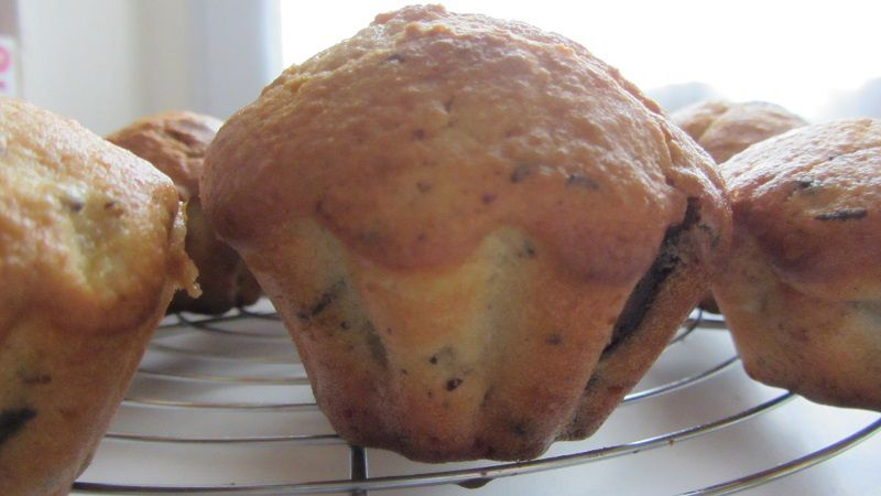 Muffins sans oeuf aux poires.