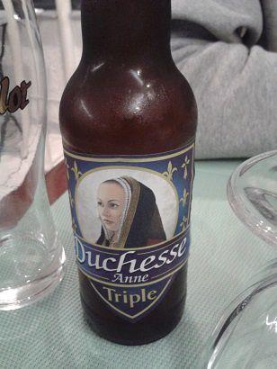 La Morgane, bière bio et la Duchesse Anne, toutes deux bretonnes. Et le Breizh cola.
