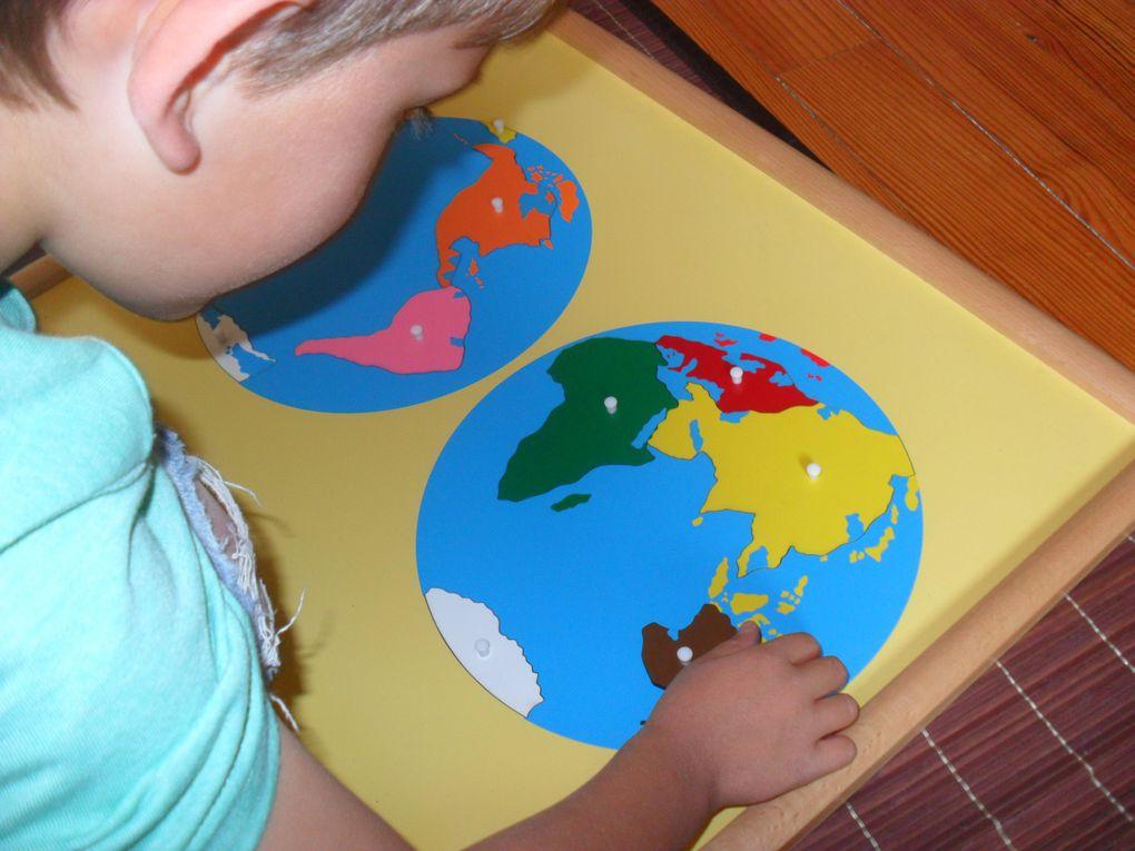 Géographie : globe effaçable