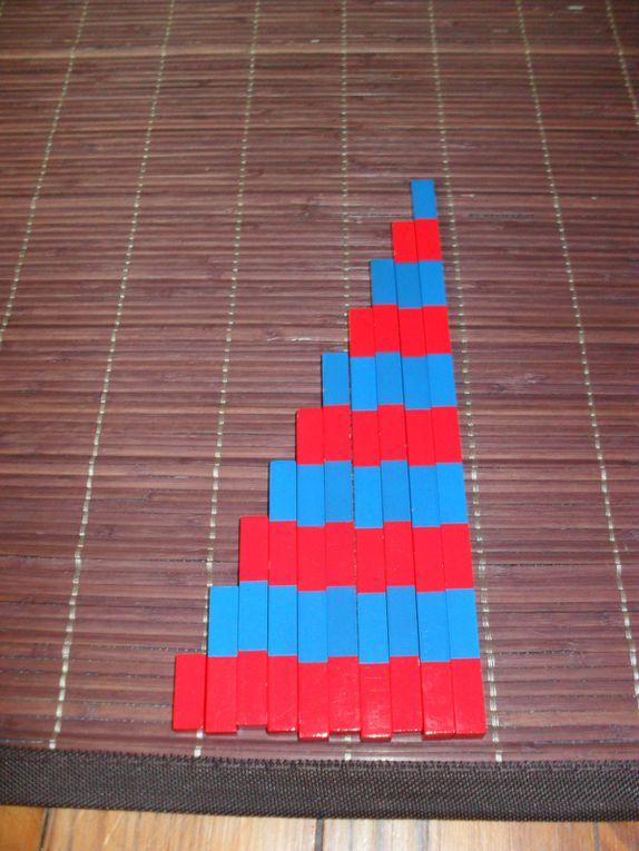 Barres rouges et bleues