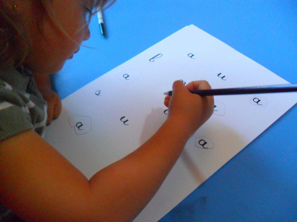 Apprentissage des lettres et graphisme