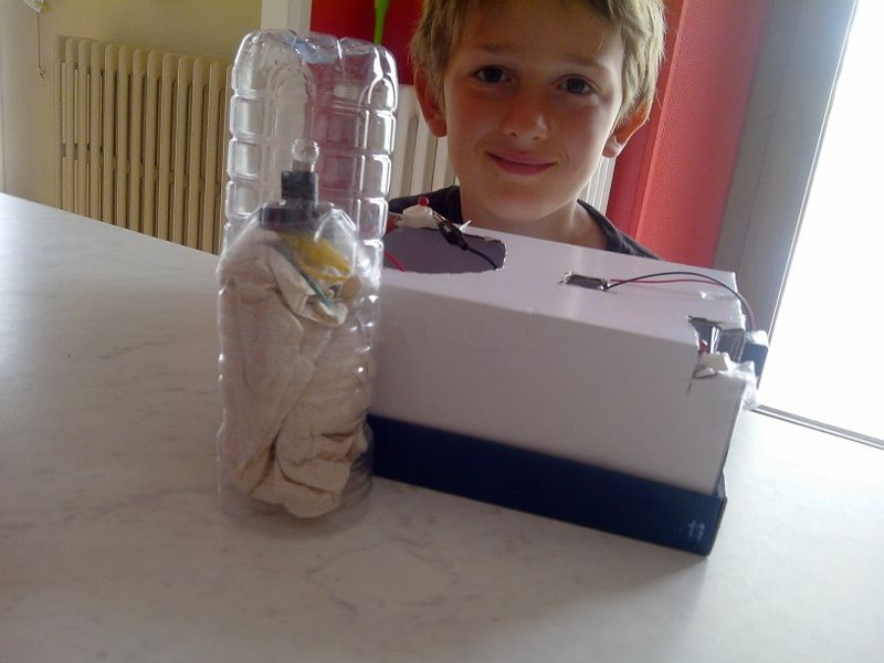 Nouveau projet pour Mathieu : fabriquer un phare.